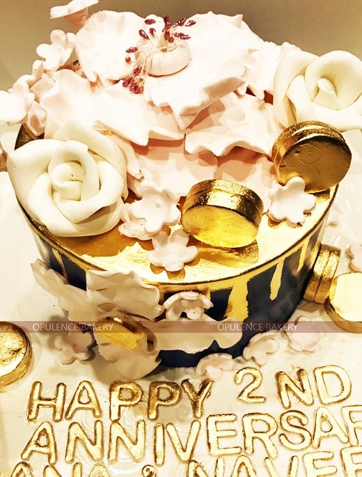 Pink Golden Coin Cake