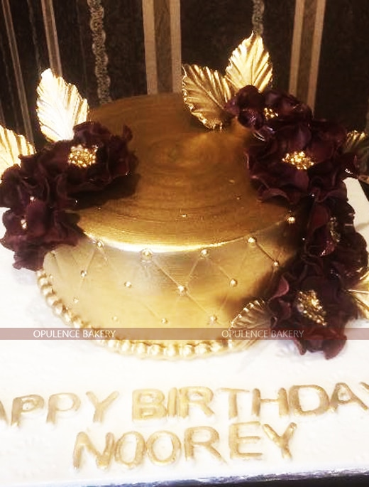 golden cake for women