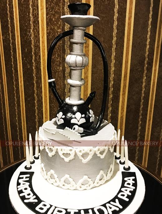 4 Pounds Sheesha Birthday Fondant Cakes
