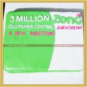 Custom cake for Zong Company