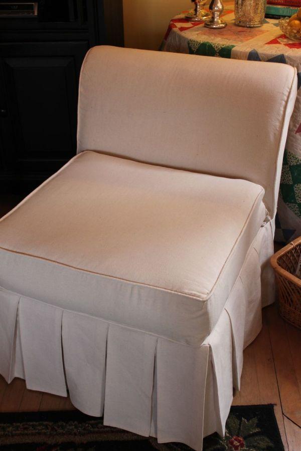 Opulent Cottage Slipcover Slipper Chair Part