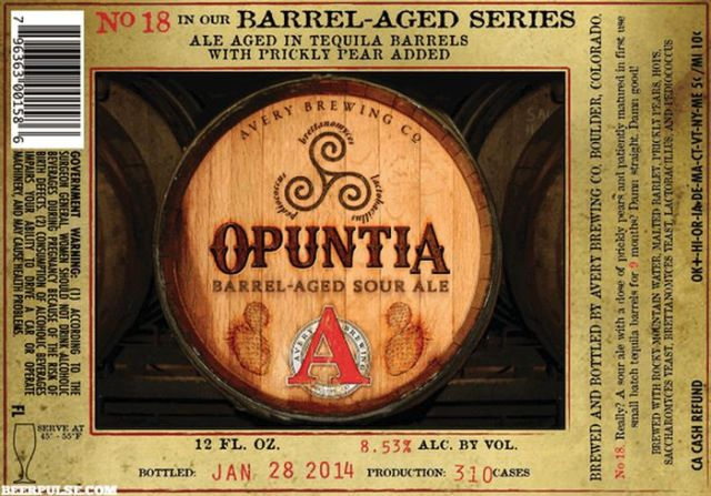 Opuntia Beer Label