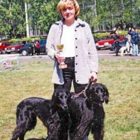 Галина Юдина со своими тайганами, фото Г. Юдиной