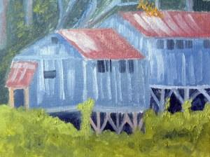 Huts at Nimrod Hall 2014 sm