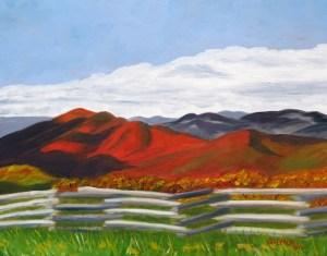Three Ridges Overlook in Fall