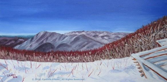 Three Ridges in Snow