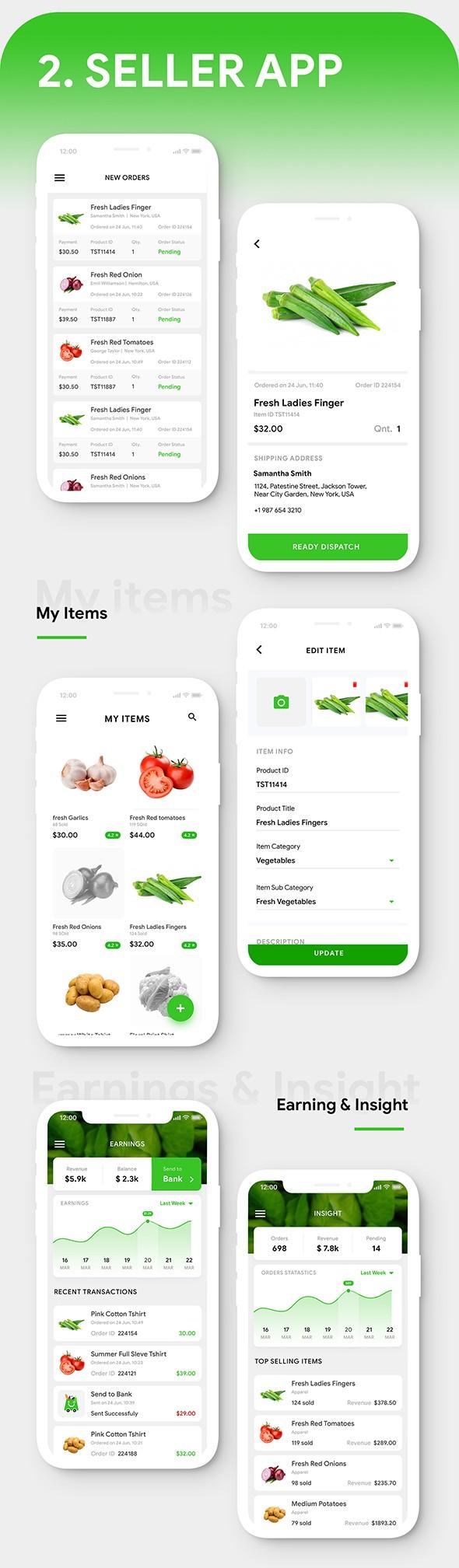 Grocery Flutter App Template | 3 Apps | User App + Seller App + Delivery App | GroShop - 8