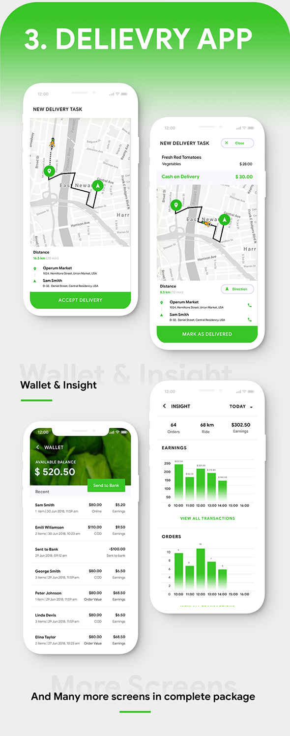 Grocery Flutter App Template | 3 Apps | User App + Seller App + Delivery App | GroShop - 10