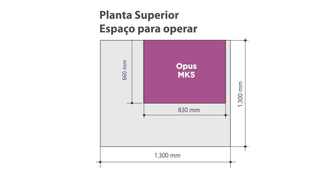 Planta superior - espaço para operar