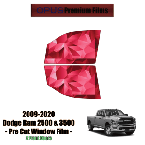 2009 – 2020 Dodge RAM 2500 & 3500 – 2 Front Windows Precut Window Tint Kit Automotive Window Film