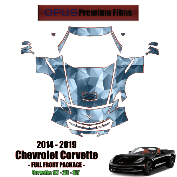 2014 – 2019 Chevrolet Corvette Paint Protection Kit (Full Front)