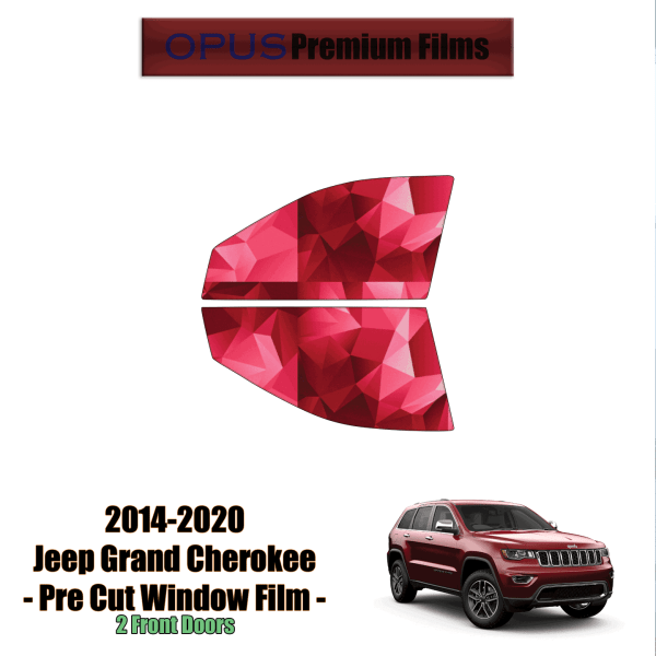 2014 – 2020 Jeep Grand Cherokee – 2 Front Windows Precut Window Tint Kit Automotive Window Film