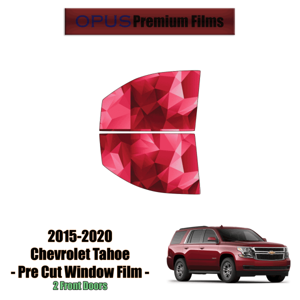 2015 – 2020 Chevrolet Tahoe – 2 Front Windows Precut Window Tint Kit Automotive Window Film