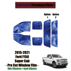 2015 – 2021 Ford F150 Super Cab – Full Truck Precut Window Tint Kit Automotive Window Film