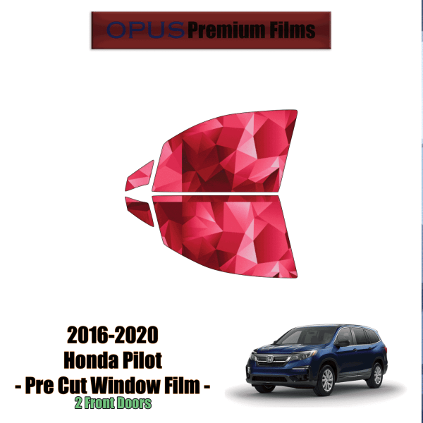 2016 – 2020 Honda Pilot – 2 Front Windows Precut Window Tint Kit Automotive Window Film