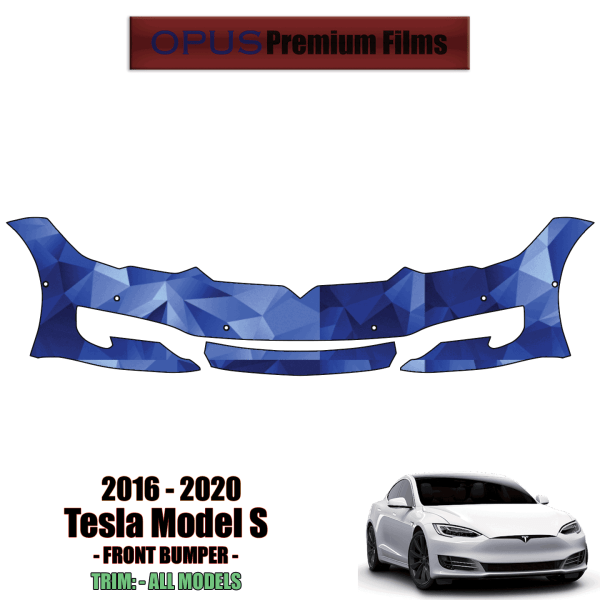 2016 – 2021 Tesla Model S – Precut Paint Protection Kit (PPF) Front Bumper