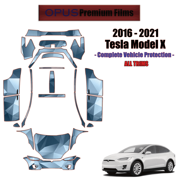 2016 – 2021 Tesla Model X – Paint Protection Kit – FULL VEHICLE –