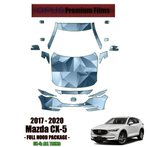 2017 – 2020 Mazda CX-5 – Precut Paint Protection Kit (PPF) Partial Front