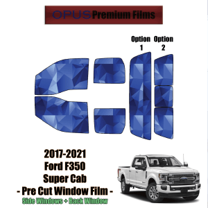 2017 – 2021 Ford F350 Super Cab – Full Truck Precut Window Tint Kit Automotive Window Film
