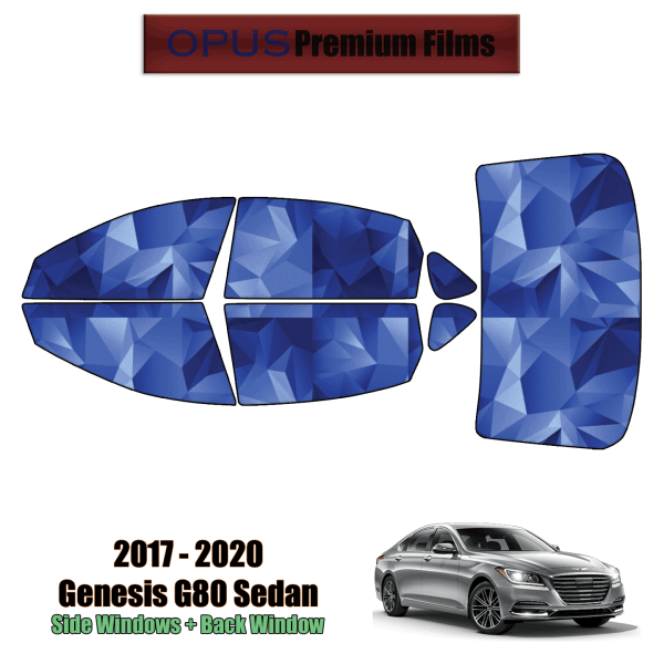 2017 – 2020 Genesis G80 – Full Sedan Precut Window Tint Kit Automotive Window Film