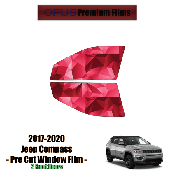 2017 – 2020 Jeep Compass – 2 Front Windows Precut Window Tint Kit Automotive Window Film