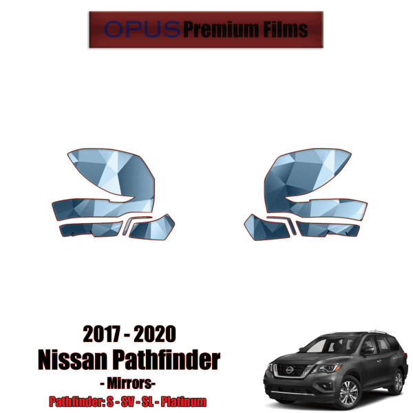 2017 – 2020 Nissan Pathfinder – Precut Paint Protection Kit (PPF) – Mirrors
