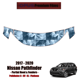 2017 – 2020 Nissan Pathfinder – Precut Paint Protection Kit (PPF) – Partial Hood + Fenders