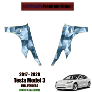 2017 – 2021 Tesla Model 3 – Precut Paint Protection Kit (PPF) Full Fenders