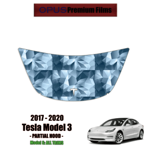 2017 – 2021 Tesla Model 3 – Precut Paint Protection Kit (PPF) Partial Hood