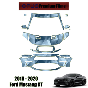 2018 – 2020 Ford Mustang GT – Precut Paint Protection Kit (PPF) Partial Front