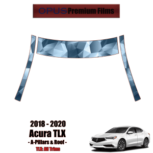 2018 – 2020 Acura TLX – Precut Paint Protection Kit (PPF) – A-Pillars + Roof Top