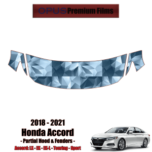 2018 – 2021 Honda Accord – Precut Paint Protection Kit (PPF) – Partial Hood + Fenders