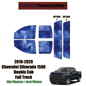 2019 – 2020 Chevrolet Silverado 1500 Double Cab – Full Truck Precut Window Tint Kit Automotive Window Film