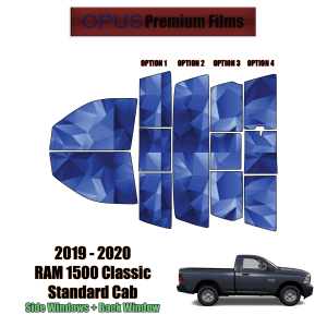 2019 – 2020 RAM 1500 Classic Standard Cab – Full Truck Precut Window Tint Kit Automotive Window Film