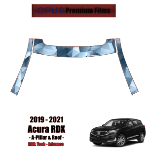 2019 – 2021 Acura RDX – Precut Paint Protection Kit (PPF) – A-Pillars + Roof Top
