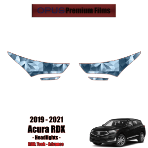 2019 – 2021 Acura RDX – Precut Paint Protection Kit (PPF) – Headlights + Fogs
