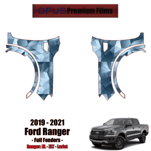 2019 – 2021 Ford Ranger Paint Protection Kit (PPF) – Full Fenders