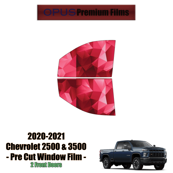 2020 – 2021 Chevrolet Silverado 2500 & 3500 – 2 Front Windows Precut Window Tint Kit Automotive Window Film