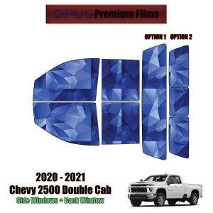 2020 – 2021 Chevrolet Silverado 2500 Double Cab – Full Truck Precut Window Tint Kit Automotive Window Film