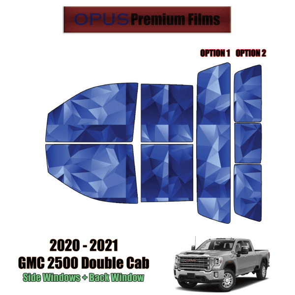 2020 – 2021 GMC Sierra 2500 Double Cab – Full Truck Precut Window Tint Kit Automotive Window Film