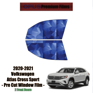 2020 – 2021 Volkswagen Atlas Cross Sport  – 2 Front Windows Precut Window Tint Kit Automotive Window Film