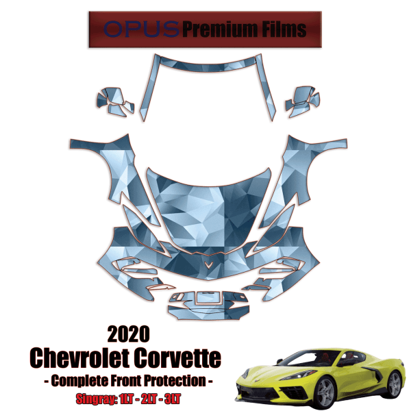 2020 – 2021 Chevrolet Corvette C8 Paint Protection Kit (Full Front)