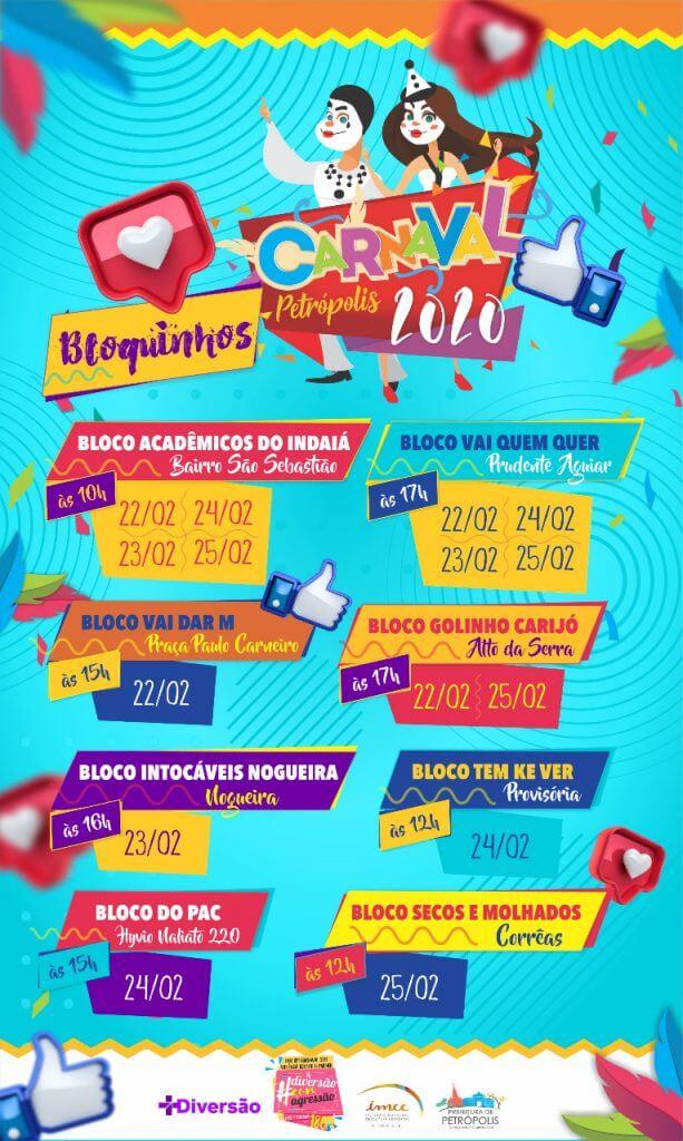 Programação dos blocos de Carnanval em Petrópolis