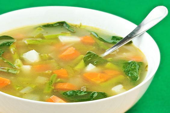 alimentação no inverno - sopa de legumes