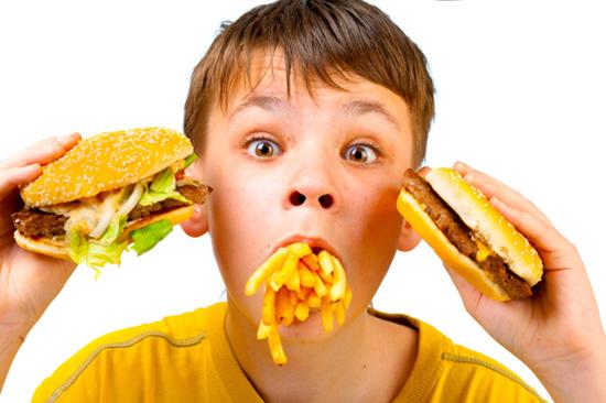 fast food criança