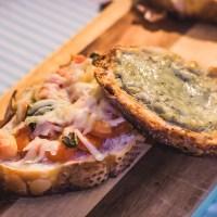Bruschettas de Tomate e de Gorgonzola - Mais um pouco da Itália