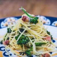 Espaguete com Bacon e Brócolis da Maísa