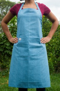 Avental de Corpo Azul Jeans Claro Inteiro