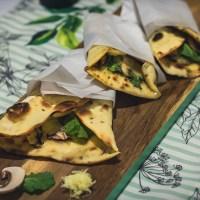 Piadina com Mussarela, Rúcula e Cogumelos - O Wrap Italiano