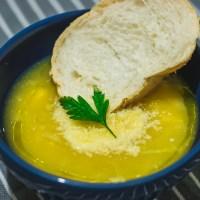 Sopa de Mandioquinha com Frango - Um alento nas noites frias